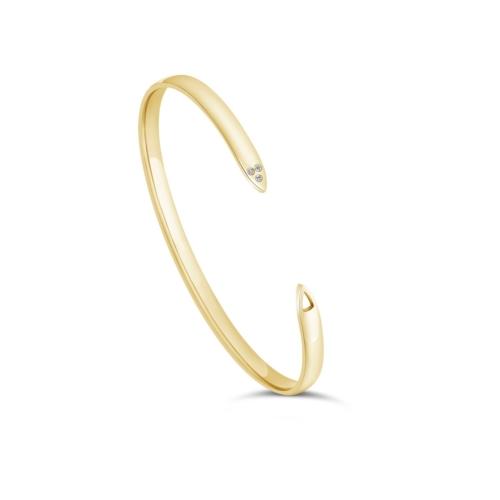 Bracelet uni petit modèle or jaune