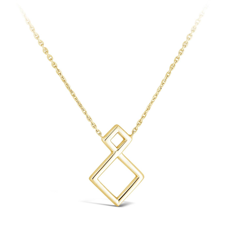 Collier Losange diamant or jaune