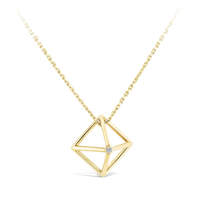 Collier Losange - Or jaune et diamant
