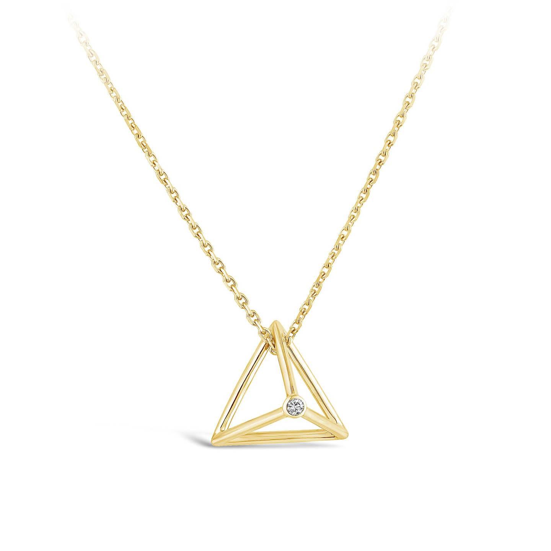 Collier Pyramide - Diamant or jaune