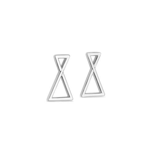 Boucles oreilles - Triangle - Or gris
