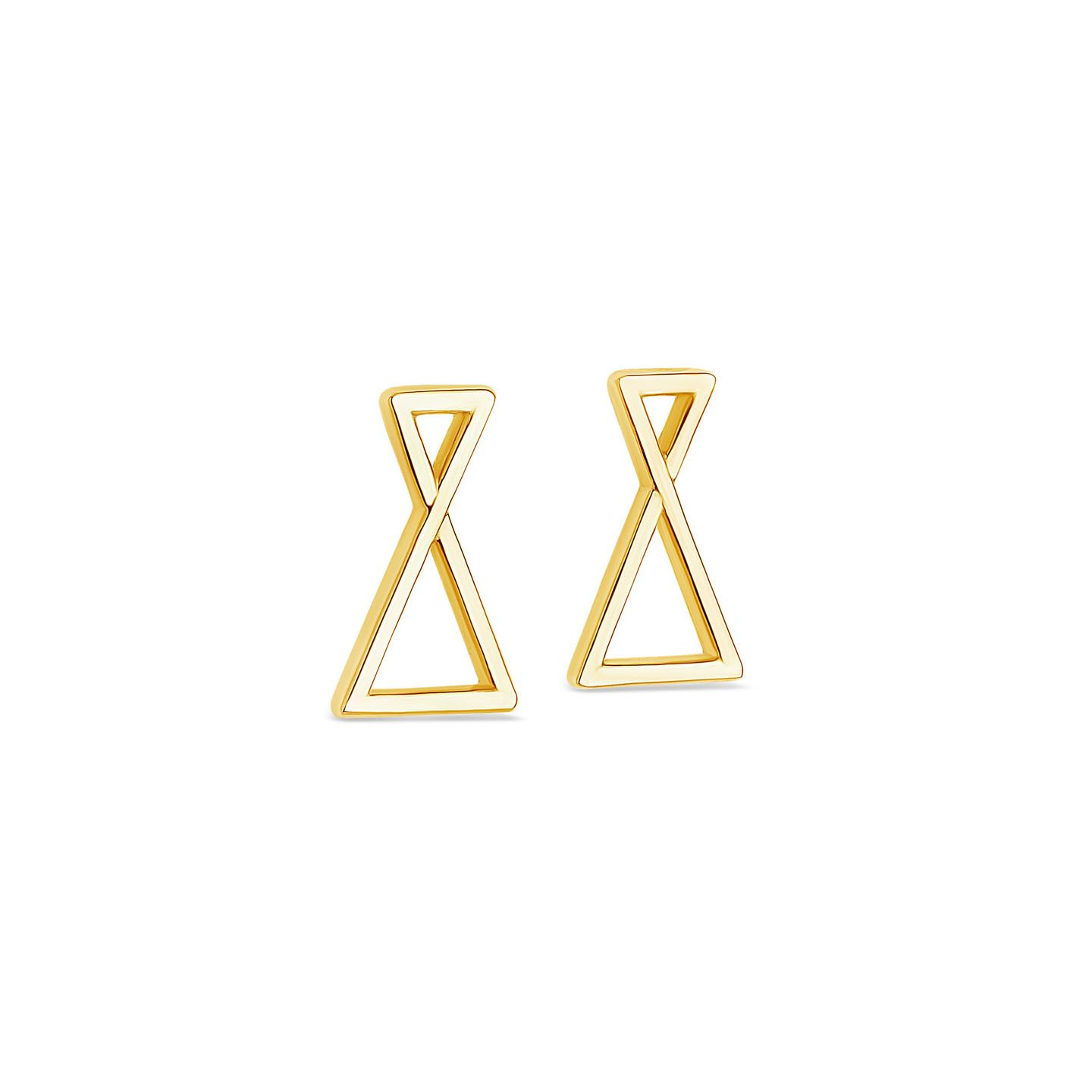 Boucles oreilles triangles or jaune