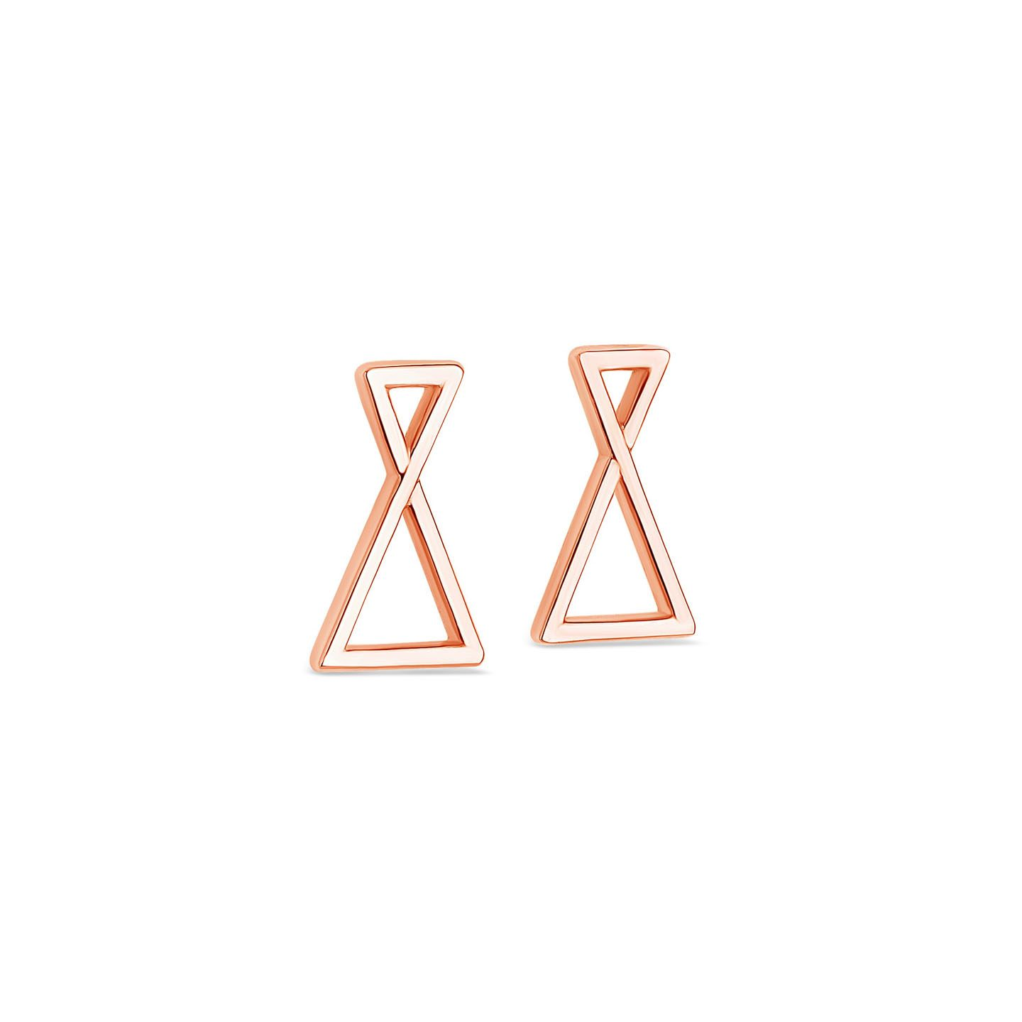 Boucles oreilles triangles or rose