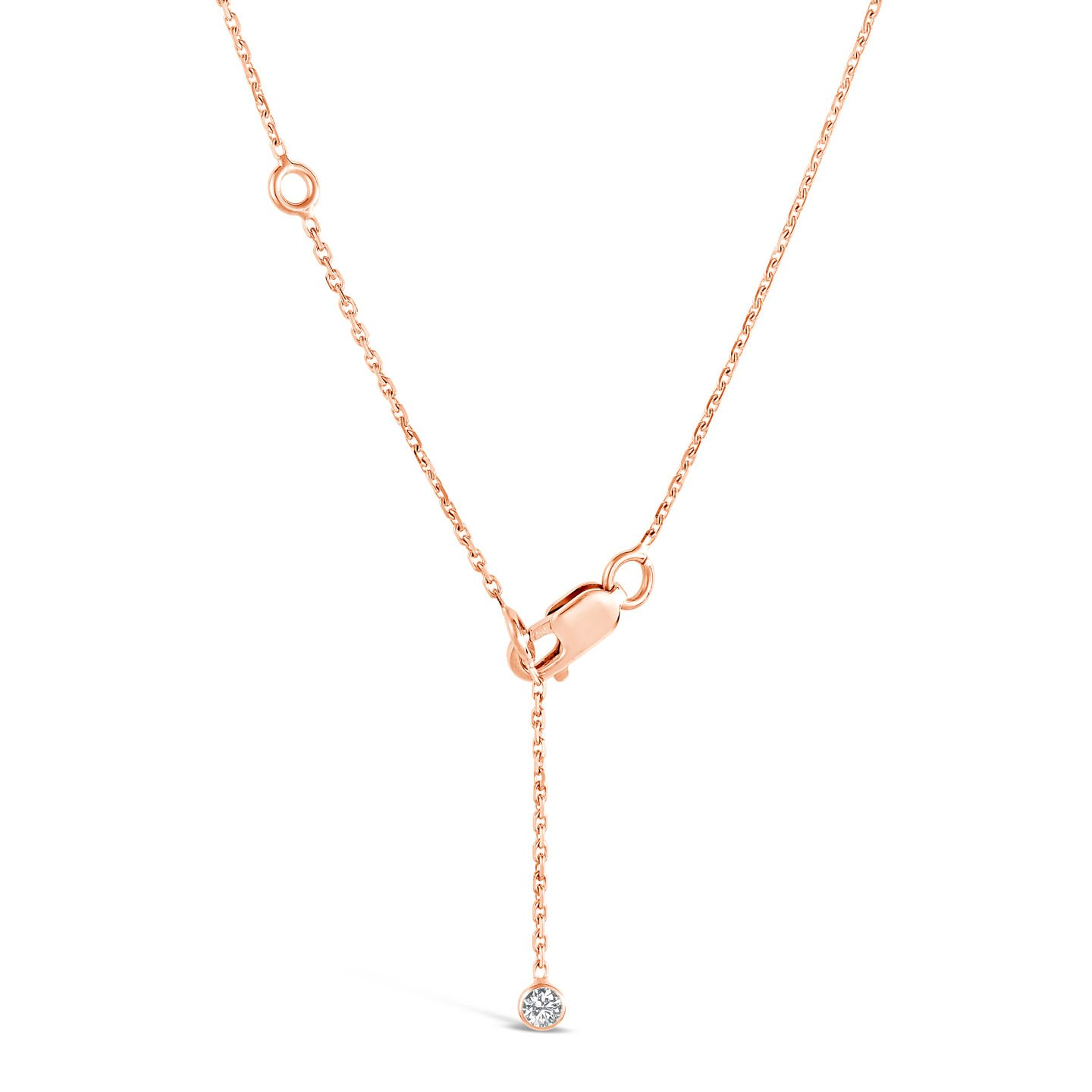 collier or rose diamant