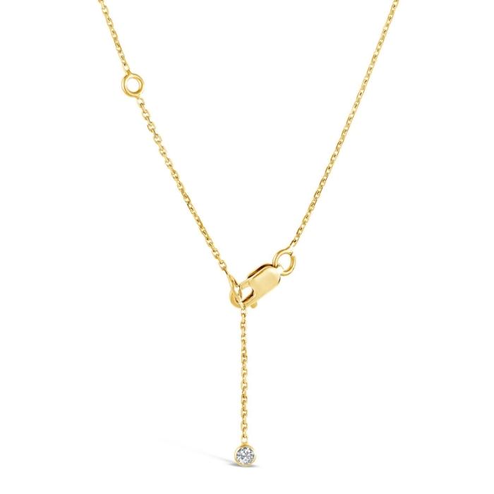 Bout de chaine pour collier formes or jaune