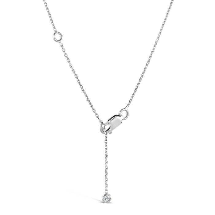 Bout de chaine pour colliers formes or blanc