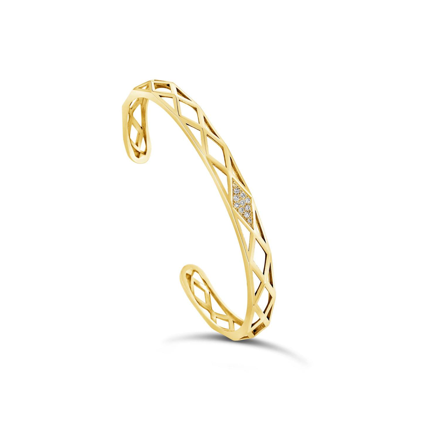 Bracelet Facette or jaune