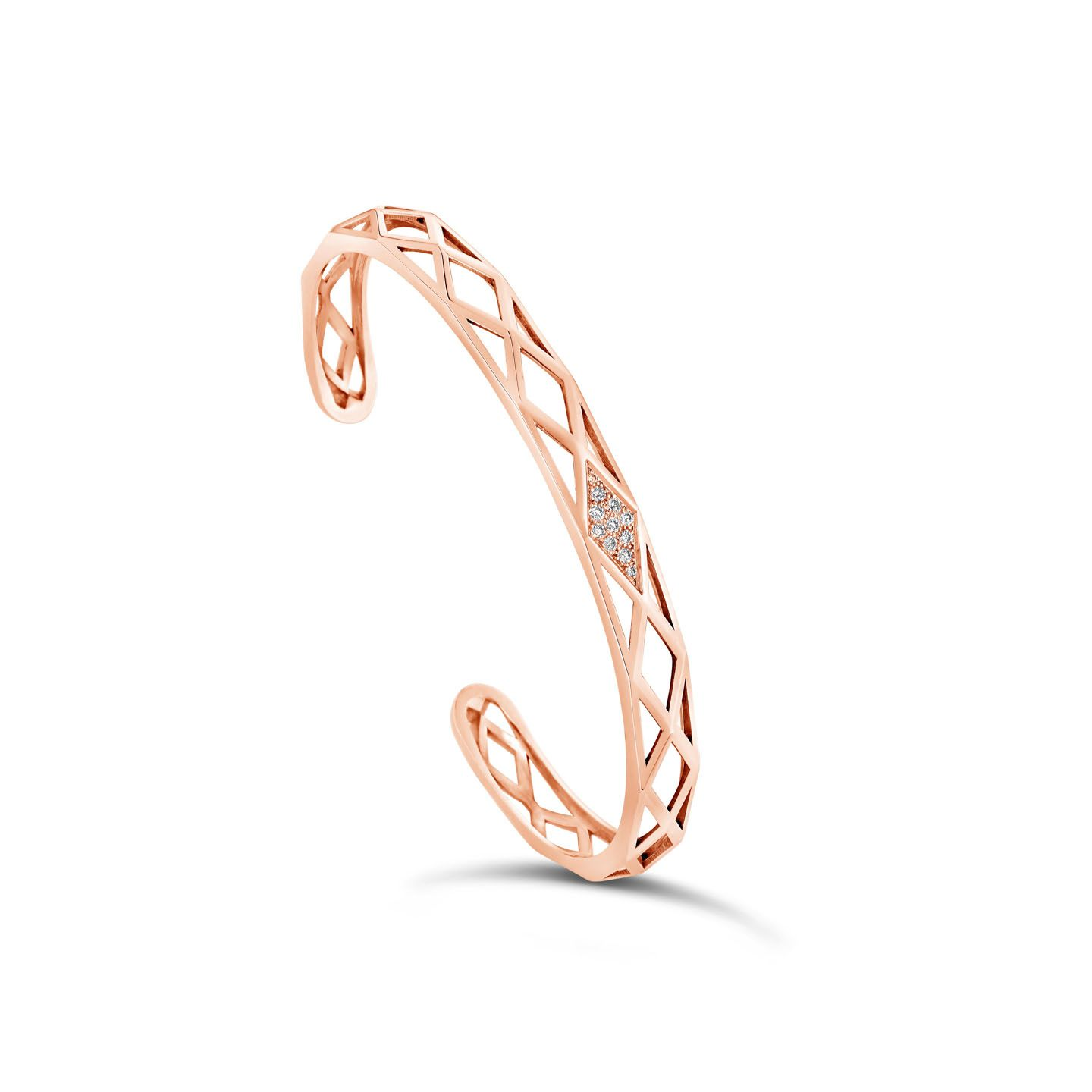 Bracelet facette or rose