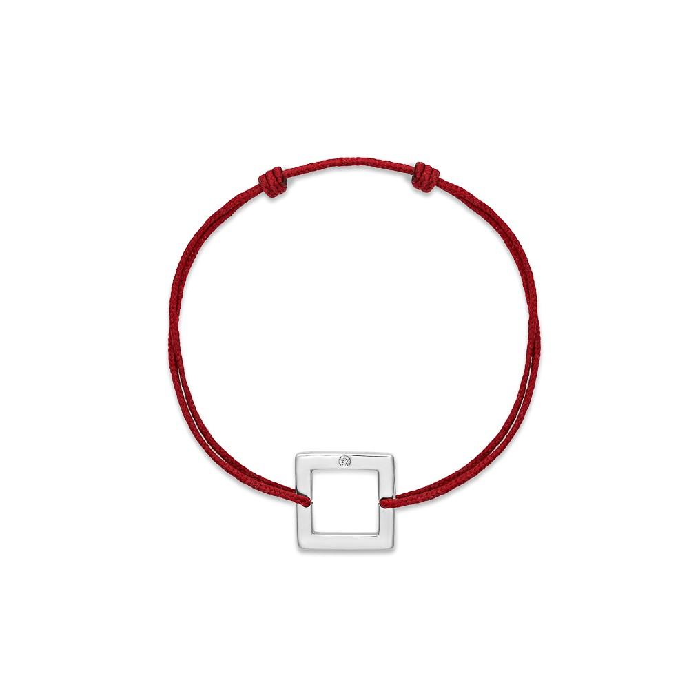 bracelet cordon femme bordeaux or gris
